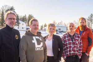 Jonas Olsson, Jimmy Eriksson, vd, Desireé Eriksson,  Alf Regnande och Fredrik Dübbel ser ljust på framtiden för sitt nya bolag.