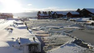 Det har blivit både regn och snö den här vintern på Agön. Som kallast har det vara 10 minusgrader på nätterna.