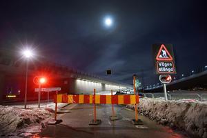 Sundsvallsbron var avstängd under natten.