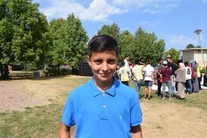 Karen Saidov, som ska börja i årskurs 6, är en av de över 100 yngre elever som varit med på fritidsaktiviteter under sommarskolan.
