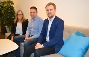 Annika Larsson, Patrik Eriksson och Joakim Råberg på Input interiör i Borlänge, tidigare Workzone, vårdar tidigare kunder samtidigt som man nu utökar verksamhetens kunder.