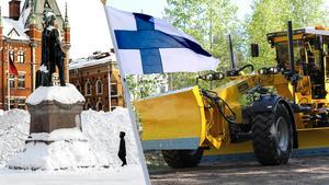 Det är en finsk väghyvel som Sundsvalls kommun beställde i somras och som kunde tas i bruk den här helgen. ST har tidigare berättat att det är en toppmodern Veekmas utrustad med avancerat datasystem. Den väger nästan 21 ton, är knappt tio meter lång och har ett hyvelblad på nära fyra meter.