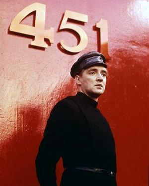 Oskar Werner spelade Guy Montag i Francois Truffauts filmatisering av