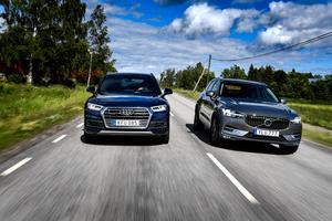 Audi och Volvo i topp när det gäller efterlysta bilar under 2017.Foto: Pontus Lundahl / TT