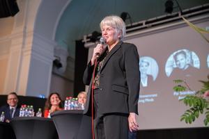 Rektor Maria Leonardsson var stolt över att ta emot finbesök.