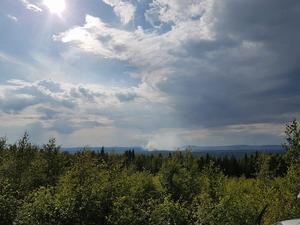 Det brinner just nu på flera ställen i Gagnefs kommun, bland annat vid Käringsjön. Foto: Maria Holman Forslund