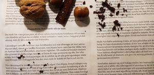 I boken finns värdefulla tips på allt möjligt. Här beskrivs kanel, nötter, kryddor, pickles, medel mot myggstick, vin och vinförfalskning.