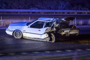 En av olycksbilarna fick bakändan helt intryckt.