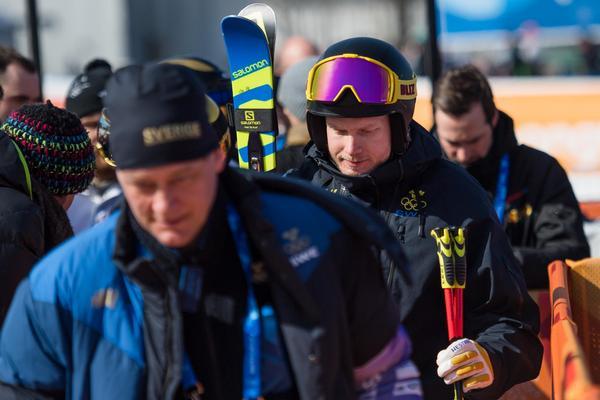 Victor Öhlin Norberg tog sig inte vidare från seedningsheatet i herrarnas skicross och lämnade besviket OS, precis som resten av det svenska herrlandslaget i skicross. Bild: Joel Marklund/Bildbyrån