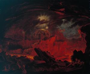 John Martins skildring av dödsriket från 1841.