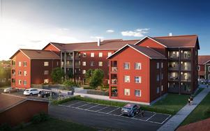 En av de tre lägenheterna på fjärde våningen finns kvar till försäljning. (Bild: Agnasark/Uvr Nordic)