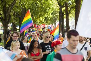 Pridetåget i Hudiksvall 2019.