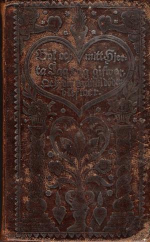 Omslag till den allra första utgåvan av Johan Olof Wallins psalmbok från 1819.