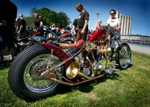 Under Custom Bike Show kan publiken rösta fram sin egen favorit bland hojbyggena.