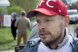 Pelle Berg, bördig från Ludvika, åkte från Stockholm för att delta i företagarnas demonstration.