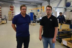 Med nya lokaler är Fredrik och Tom Bertils väl laddade inför framtiden med sitt företag, Edvin Larssons Mekaniska i Dala-Järna.