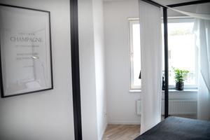 Ett av sovrummen, med en annorlunda vinkel.