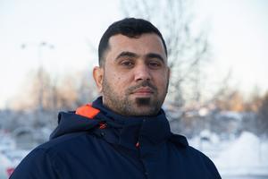 Sinan Ahmed, 32, bor i Finland vanligtvis då han läser till att bli lastbilschaufför.