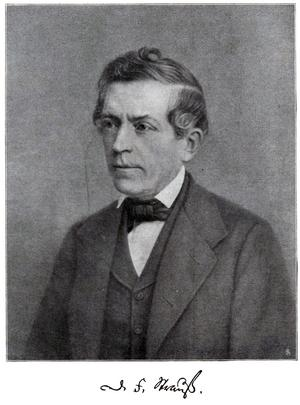 David Friedrich Strauss. Okänd fotograf.
