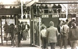 Matchdags på Arosvallen 1978.