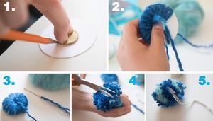 Så här gör man en garnboll.