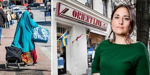 DT:s ledarskribent Emma Høen Bustos är kritisk till den främlingsfientliga utvecklingen i svensk högerpress. Foto: TT/DT Arkiv