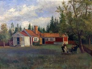 Trädgårdskonst av okänd konstnär: Luthens fäbodar.