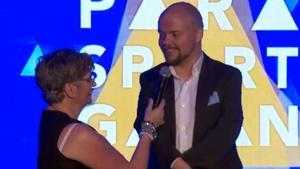 Mikael Fredriksson blev utsedd till årets förebild på Parasportgalan. Faksimil: Swedish parasport