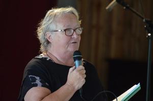 Första kvinnan. Det dröjde 70 år , men nu har Nora PRO en kvinna som ordförande för första gången: Britt Argårds.