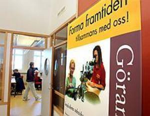 ARKIVBILD Satsning på teknik. Göranssonska skolan drivs av Sandvik Utbildnings AB, ett bolag som ägs gemensamt av Sandvikens kommun och Sandvik. En av skolans målsättningar är att hälften av eleverna ska vara flickor.