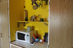 Det senaste projektet har varit att måla denna nisch i köket.