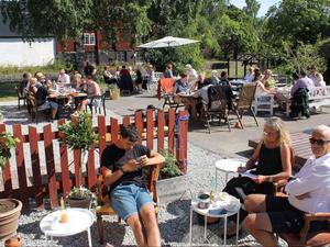 Kaféet har plats för cirka 50 gäster. Foto: Familjen Genberg