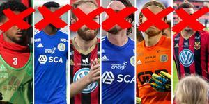 Sex stjärnor finns inte med på planen under höstens derby mellan GIF Sundsvall och ÖFK.