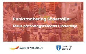 Så här såg informationen om Punktmarkeringsevenamanget ut på Södertälje kommuns hemsida. Ja, eller Punktmakering ...