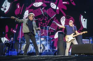Originalmedlemmarna Roger Daltrey och Pete Townshend håller fortfarande igång The Who, här i San Francisco 2017. Foto: Amy Harris/AP