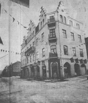 Storgatan 31. Bild från 1975. Huset var hotat men revs aldrig.