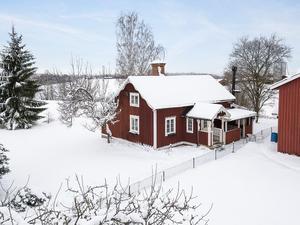 Denna trerumsvilla i Berg, Borlänge kommun, kom på sjätte plats.Foto: Patrik Persson/Bjurfors Dalarna