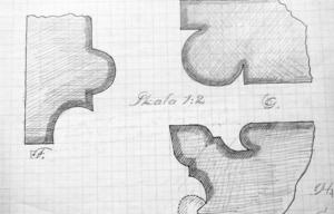 Den här teckningen av formtegel från Nicolaikyrkan finns i det arkeologiska materialet. Samma typ av formtegel finns i Domkyrkan. Bildkälla: Västmanlands läns museum.