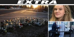 Bilden är ett montage. 14-åriga Elsa kördes ihjäl i slutet av november. Nu åtalas en Orsabo, bland annat misstänkt för grovt vållande till annans död.