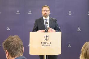 Staffan Tjörnhammar (M), för närvarande Norrtälje kommuns högsta representant i samrådsgruppen med Region Stockholm.