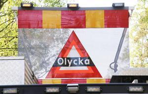 Larmet om trafikolyckan inkom till SOS Alarm vid klockan 08.51 på tisdagsmorgonen.
