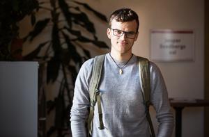 Erik Garmo presenterade sitt medborgarförslag om att kommunen bör införa en koldioxidbudget på torsdagens fullmäktigemöte i Falun.
