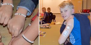 Benjamin Lodén är en av två elever med diabetes i klassen.