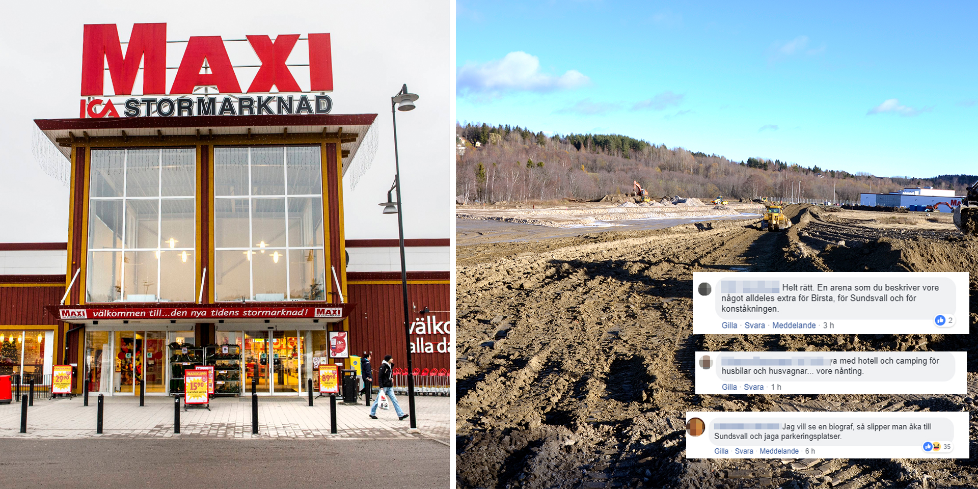 ica maxi stormarknad sundsvall
