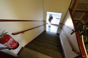 Knappast tillgängligt för alla med trappan högst upp.
