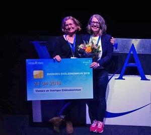 Rättvik är Sveriges eHälsokommun 2018. Gunilla Klingh och Lena Fröyen, tog emot priset i Göteborg. Gunilla jobbar som verksamhetschef inom vård och omsorg och Lena är förvaltningschef vid socialförvaltningen.