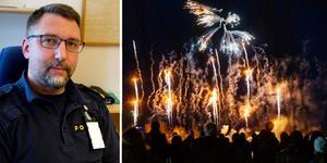 Erik Bylund hos Kramforspolisen berömmer allmänheten för en lugn nyårshelg. Arkivfoto