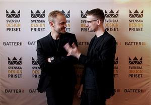 Designduon Johan och John på galan. Foto: Pressbild