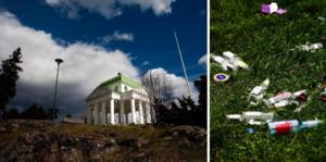 Bara april, och redan är det fullt med skräp på Köpmanberget i Hudiksvall, skriver insändaren.
