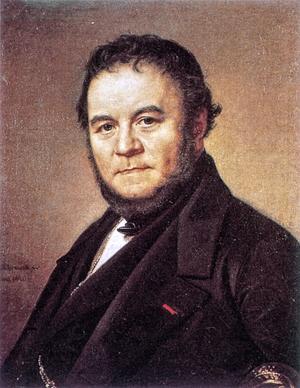 Stendhal 1840. Målning av Olof Johan Södermark.